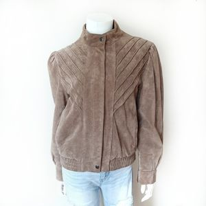 Wilson Leather Tan Brown Suede Jacket